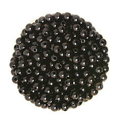 Beadia 100g(Approx 1000Pcs)  ABS Pearl Beads 6mm Round Black Color Plastic Loose Beads For DIY Jewelry Making