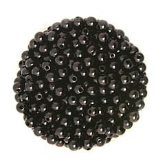 100g beadia (aprox 1000pcs) abs perlas 6mm perlas sueltas de plástico de color negro redonda para la fabricación de joyas de bricolaje