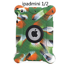 Environmental Silicone Soft Pure Color Loudspeaking Shockproof Full Body Cover Case For AppleiPad Mini1/2/3 7.9 Inch