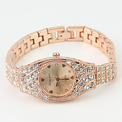 Women's Dress Watch Fashion Watch Quartz Imitation Diamond Alloy Band Bangle Elegant Rose Gold Brand