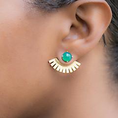 Beszúrós fülbevalók Divat Drágakő Ötvözet Zöld Kék Ékszerek Mert 2pcs