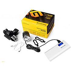 LED손전등 자전거 라이트 자전거 전조등 자전거 후미등 LED Cree XM-L L2 싸이클링 방수 이동할 수있는 전력 공급 휴대성 1200 루멘 USB 캠핑/등산/동굴탐험 일상용 경찰/군인 사이클링 일-CoolChange