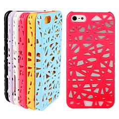 O caso de pássaro ninho padrão pc perfurado telefone para iPhone 5 / 5s (cores sortidas)