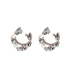 Women's Fashion Elegant Semicircle Zirconium Earrings