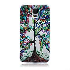 värikäs elämän puu kuvio TPU pehmeä takakannessa kotelo Samsung Galaxy S3 S4 S5 S6 s3mini s4mini s5mini s6 reuna