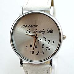 Женские Модные часы Кварцевый PU Группа Блестящие Белый бренд-