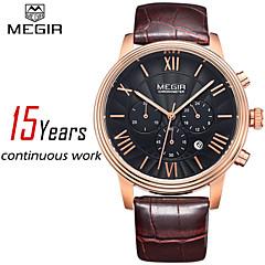 MEGIR®Chronograph Men Watch Luxury Brand Business Watches Casual Genuine Leather Wristwatch wellington(Assorted Colors)