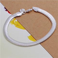 Herre Dame Kæde & Lænkearmbånd Mode kostume smykker Sølv Geometrisk form Slange Smykker Til Bryllup Fest Daglig Afslappet Julegaver