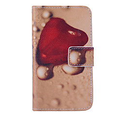 Magic Spider®Tear Drop Shaped Heart Wallet Design PU Full Body Case with Screen Protector for Samsung Galaxy G355H
