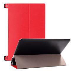 sólida de cuero colores de lujo elegante de la cubierta del caso del soporte de todo el cuerpo delgado para lenovo yoga 2 1050 (colores
