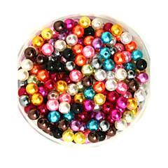 100g beadia (aprox 1000pcs) abs perlas 6mm perlas sueltas de plástico de color ronda mixtas para la fabricación de joyas de bricolaje