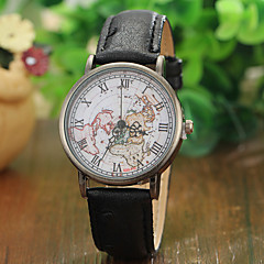 Fashion Unisex World Map Watch Relogio Feminino Women Watches Quartz Watches Reloj Mujer