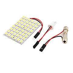 youoklight® 1pcs T10 / γιρλάντα 9w 500lm 48 x SMD5050 οδήγησε λευκό φως αυτοκινήτων φως ανάγνωσης φως / πάνελ - (12v)