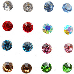 Women's 8 pairs per Set Shining Czech Drilling Crystal Stud Earrings Set