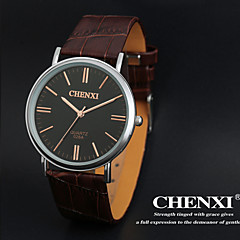 chenxi® män klänning titta enkel design brun läderrem