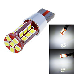 T10 15W 900lm 6000K 30-SMD 2835 LED White Light Car Width Lamp (12-24V/1-Pair)