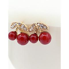 Stud Earrings Crystal Imitation Pearl Rhinestone Gold Plated 18K gold Simulated Diamond Fashion Gold Jewelry 2pcs