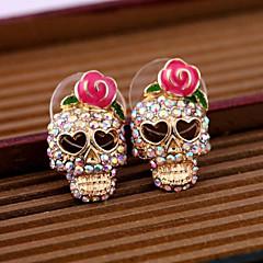 Kolczyki na sztyft Stop Skull shape Różowy Biżuteria Na Codzienny Casual 2pcs