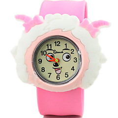 Children's Cute Cartoon Silicone Weslie And Pleasant Goat Pattern   Lovely Digital Quartz Slap Watch Cool Watches Unique Watches