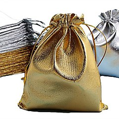 50PCS Gold & Silver 7x9cm Cloth Bag/Jewelry Bag/Pouch Bag,Christmas/Wedding Gift Bag