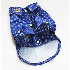 Perros Camiseta Azul Ropa para Perro Verano Primavera/Otoño Lunares Moda