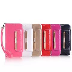 5,1-Zoll-Diamant-Muster-echtes Leder Handschlaufe Mappenkasten für Samsung-Galaxie s6 (verschiedene Farben)