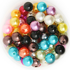 Beadia 92g(Approx 200Pcs)  ABS Pearl Beads 10mm Round Mixed Color Plastic Loose Beads DIY Jewelry Accessories