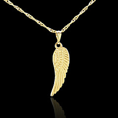 18K Real Golden Plated Angel Wings Pendant