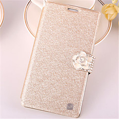 For Samsung Galaxy Note7 Card Holder / Rhinestone / with Stand / Flip Case Full Body Case Glitter Shine PU Leather SamsungNote 7 / Note 5