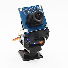 2-akse FPV kamera vugge hoved + ov7670 kamera sæt til robot / R / C bil - sort + blå