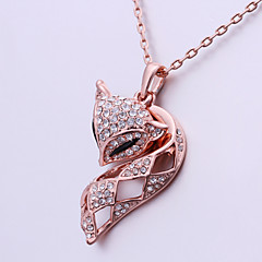 Silver Plated Necklace Pendant Necklaces Wedding/Party/Daily/Casual 1pc