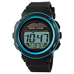 SKMEI Masculino Relógio Esportivo Relógio de Pulso LCD Calendário Cronógrafo Impermeável alarme Energia Solar Relógio Esportivo Digital