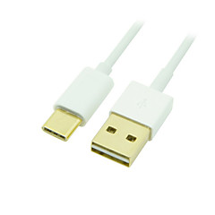 Gold USB-C 3.1 Type C Male to Standard USB 2.0 A Male Data Cable for Tablet & Mobile Phone 1m