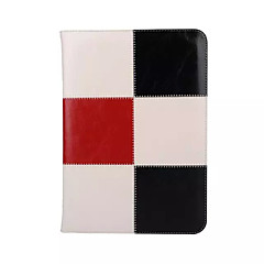 Genuine Leather Special Design Grid Pattern Mixed Color Auto Sleep/Wake UP For iPad mini 2/3