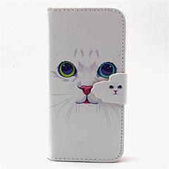 sød kat mønster pu læder telefon tilfældet for Galaxy S3 / S5 / s4 mini