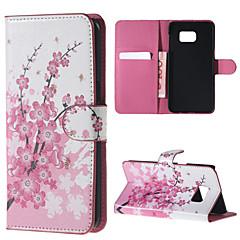vaaleanpunaisia kukkia kuvio PU nahka kotelossa, jossa jalusta Samsung Galaxy Note 5 / note 5 reuna / note 4 / note 3 / note 2