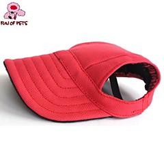 Katzen Hunde Kopftücher & Hüte Rot Blau Schwarz Hundekleidung Sommer Frühling/Herbst einfarbig Urlaub