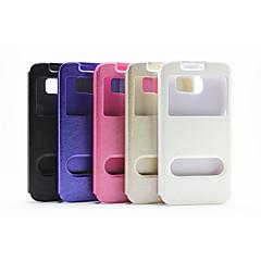 ikkuna silkki tulostus muoti pu flip matkapuhelin tapauksessa samsung Note2 / Note3 / Huom4 valikoituja värejä