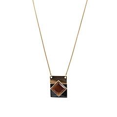Fashion Women Catseye Stone Set Pendant Necklace