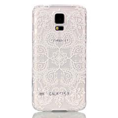 Sprawa pc przezroczysty materiał wzór kwiatowy paw telefonu Samsung Galaxy s6 dla / S6 krawędzi / S5 / s3mini / s4mini / s5mini