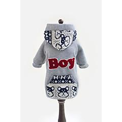 Perros Saco y Capucha Azul / Gris / Rosa Invierno Letra y Número / Caricaturas