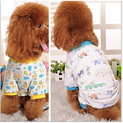 Perros Abrigos / Pantalones / Pijamas Azul / Amarillo Primavera/Otoño Flores / Botánica Boda / Cosplay