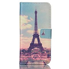 Mert Samsung Galaxy tok Kártyatartó / Pénztárca / Állvánnyal / Flip Case Teljes védelem Case Eiffel torony Műbőr SamsungS6 edge / S6 / S5