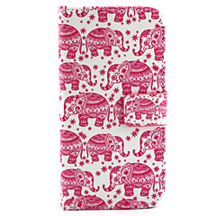Pink Elephant Pattern PU Leather Case with Money Holder Card Slot for Galaxy S6/S6 edge/S5/S4/S3