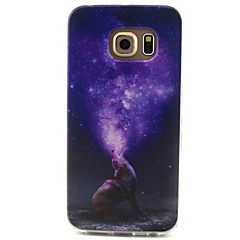 Star Wolves Pattern TPU Painted Soft Back Cover for GALAXY S6/S6 edge S5/S5Mini S4/S4Mini S3/S3Mini