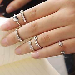 Pierścionki na palec środkowy,Biżuteria Złoty / Srebrne Casual Stop 1set,7 Damskie