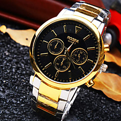 Men's New Classic Round Dial Steel Strap Fashion Business Quartz Watch (Assorted Colors) Wrist Watch Cool Watch Unique Watch