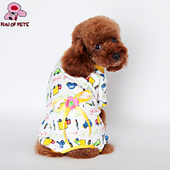Gatos / Perros Abrigos / Pantalones / Pijamas Azul / Rosado / Amarillo Ropa para Perro Invierno Caricaturas / Lazo Boda / Cosplay