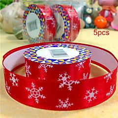 5pcs Silk Tape Snow for Christmas Diy Tape Birthday Dots Christmas Cartoon