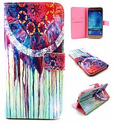 Farbe der Tränen Muster PU-Leder Ganzkörper TPU Fall mit Kartenhalter für Samsung-Galaxie A8